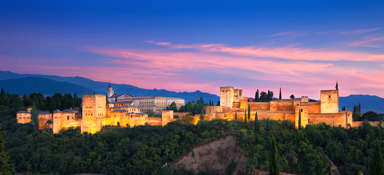 The monument of the Alhambra in Granada, Spain